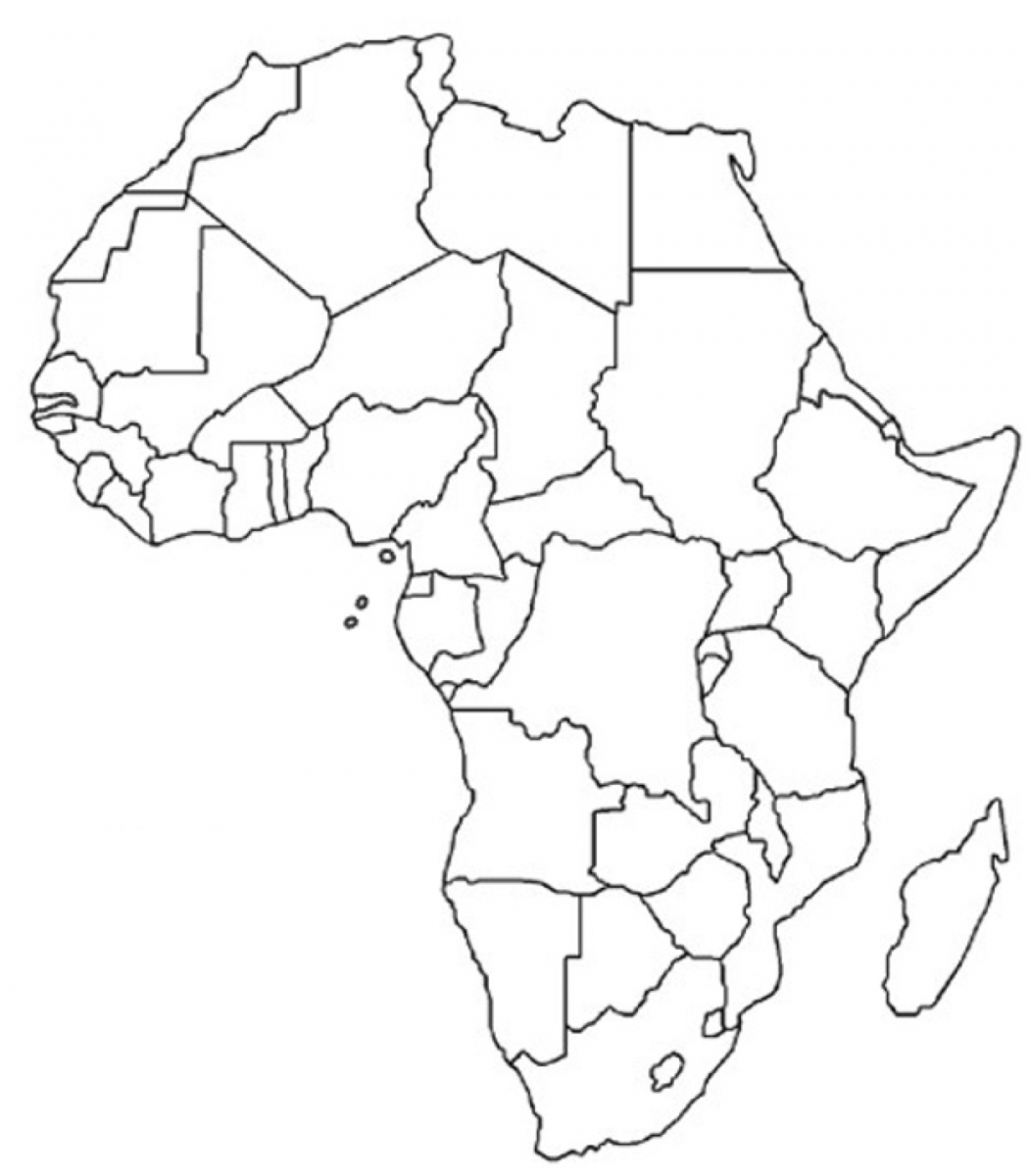 Free blank printable of Africa. | Afrika | Pinterest | Africa, In ...