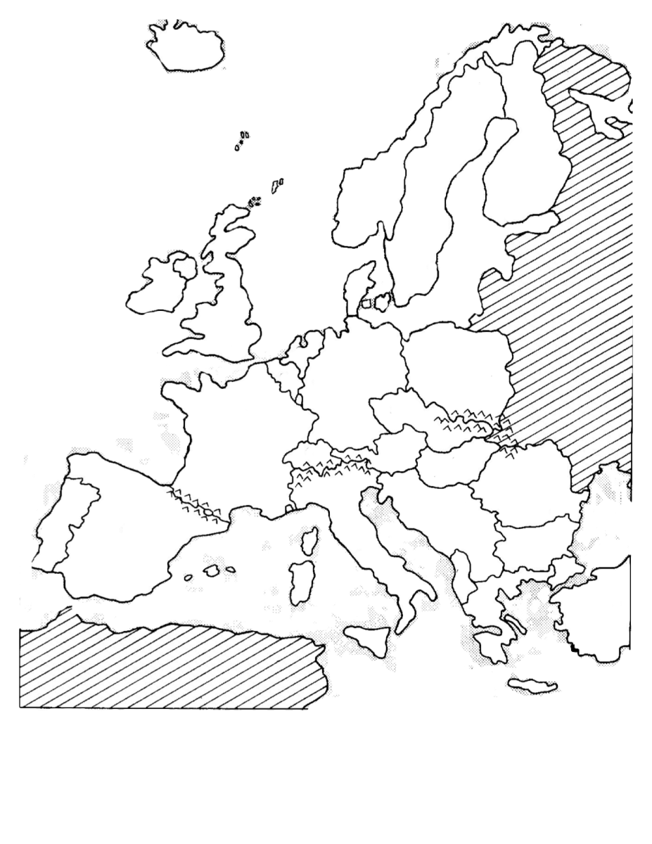 Blank Political Map Of Europe With Capitals - Blank us political map
